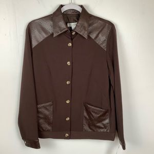 Rafael Western Button Up Jacket Brown NWT Size 10